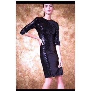 Black Sequin Party/Holiday Midi Dress SZ Small